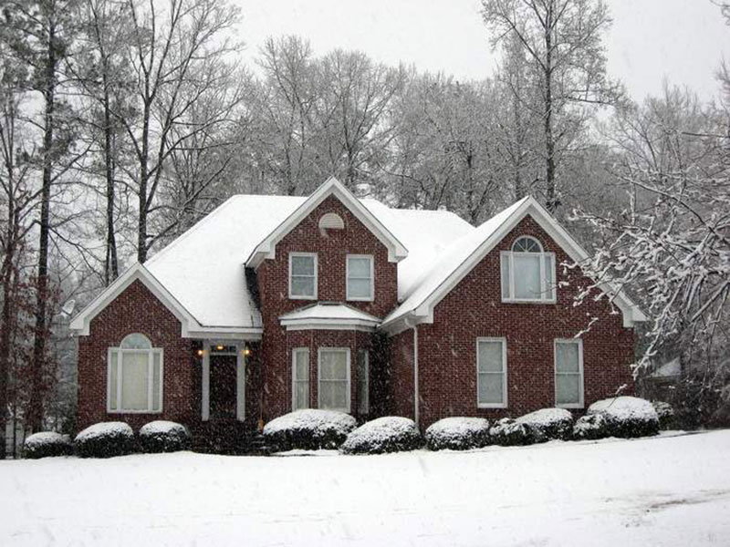 Is there snow on your roof? Do you get Ice dams?